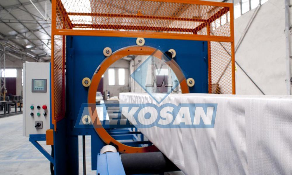 AUTOMATIC JUTE PACKING MACHINE FOR TUBES AND PROFILES